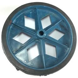 Roda De Plastico Colorida Azul Sem Rolamento 152mm X 27mm