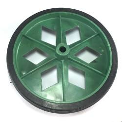Roda De Plastico Colorida Verde Sem Rolamento 152mm X 27mm