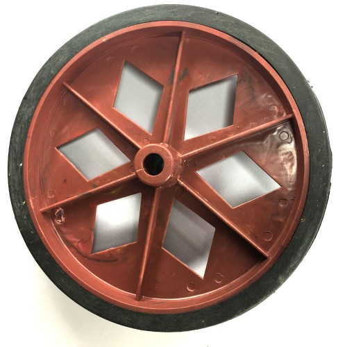 Roda De Plastico Vermelha Sem Rolamento 152mm X 27mm