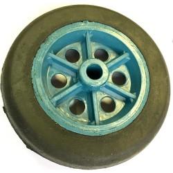 Roda De Plastico 6 Polegadas Sem Rolamento Azul Pneu de Borracha Furo do Eixo 1/2 Polegada 150mm X 42mm
