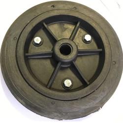 Roda De Plástico 9 Polegadas em PVC Preta Sem Rolamento 230mm X 55mm
