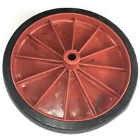 Roda De Plastico Reforçada Vermelha 157mm X 43mm
