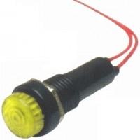 Sinalizador XD8-2 Olho De Boi Amarelo 12V Com Fio