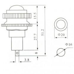 Sinalizador LD16-4 220V Amarelo