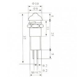 Sinalizador XD8-3 24V Vermelho