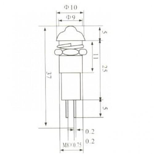 Sinalizador XD8-3 110VAC Vermelho