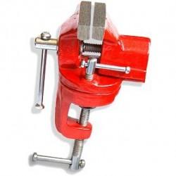 Mini Torno Com Base Giratória 50mm - Morsa Para Bancada