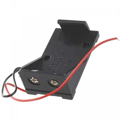 Suporte/Caixa Para Bateria De 9V Com fios