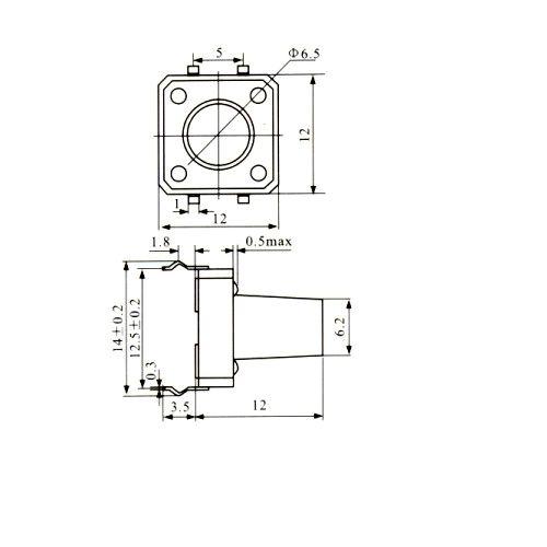 Chave Tactil 12x12x12mm 4 Terminais