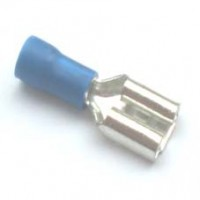 Terminal Faston Femea FDD-2-250 Isolado Azul