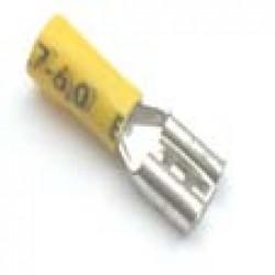 Terminal Faston Femea FDD-5,5-250 Isolado Amarelo