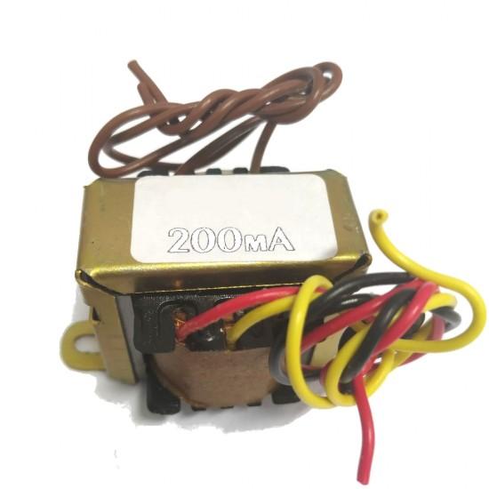 Transformador 6+6 200mA - Entrada 110/220VAC