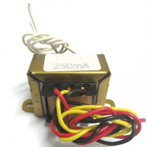 Transformador 3+3V 250mA - Entrada 110/220VAC