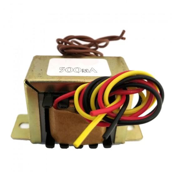 Transformador 9+9V 500mA - Entrada 110/220VAC