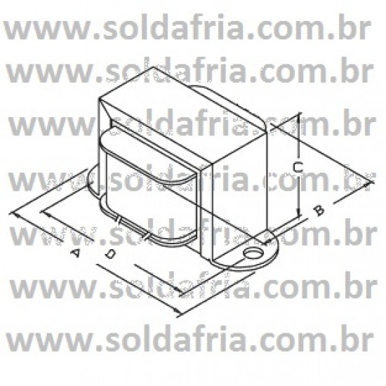 Transformador 9v 100ma - Entrada 110/220vac