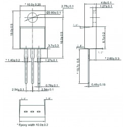 SCR BT151-650R  12 A, 15mA, 650 V, SOT78