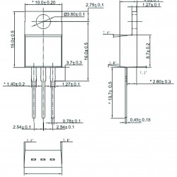 Triac BT151-500R SCR, 12 A, 15mA, 500 V, SOT78