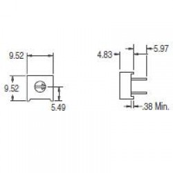 Trimpot 3386F 5K Ohms (5K/502) 1 Volta